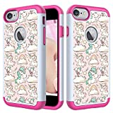 Cover iPhone 6s Plus/6 Plus, Silicone TPU PC Bumper Telefoni Telefono Cellulari, Cassa del Telefono Carino per iPhone 6s Plus/6 Plus (Pink Pony)