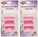 Pixie Disposable Dispenser Refill - Pink (Pack of 2)