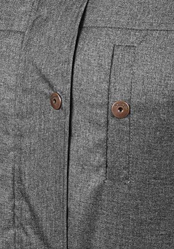 BLEND SHE Dale Damen Parka lange Jacke Winter-Mantel mit Kapuze und Teddy-Futter aus hochwertiger Materialqualität Black Melange (200049)