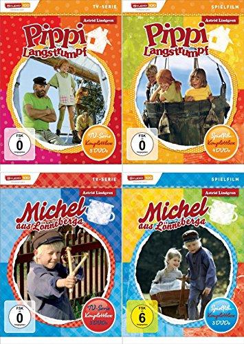 Pippi Langstrumpf + Michel aus Lönneberga - Spielfilm + TV Komplettbox (15-Disc / 4-Boxen)