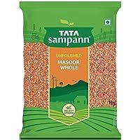 Tata Sampann Unpolished Masoor Dal, Whole, 1kg