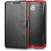 Funda Nexus 6, Mulbess Motorola Nexus 6 Wallet Case [Negro] - Funda Cuero con Ranuras Cierre Magnético para Google Nexus 6