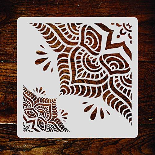 amast-Mandala-Motiv, 16,5 x 16,5 cm, groß, wiederverwendbar, groß, Schablone ()