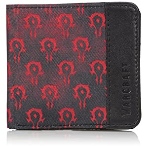 Warcraft Horde Logo Movie Geldbörse rot schwarz 10×9,5x1cm