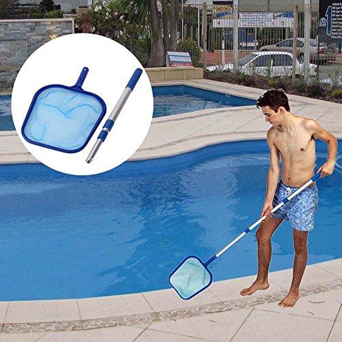 ROKOO Pool Leaf Reinigung Net Skimmer mit Teleskopstange Abnehmbar für Spa Koi Fischteich Badewanne Reinigung