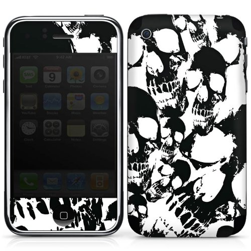 DeinDesign Apple iPhone 3Gs Folie Skin Sticker aus Vinyl-Folie Aufkleber Skull Gothic