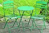 Tischset Limbo Eisen grün ein Tisch + zwei Stühle Kindertischset Gartenmöbel für Kinder Balkon Terrasse