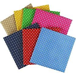 edgeam 7pieza tela de algodón cuadrada de 100% algodón Moderno Diseño Patchwork plástico paquetes 50cm x 50cm