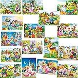 alles-meine GmbH 16 Stück _ Mini Puzzle / Minipuzzle - 54 Teile -  Märchenpuzzle  - inkl. NAM..