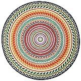 JIAJUAN Runder Teppich Rutschfest Einfach Zu Säubern Verschleißfest Schlafzimmer Leben Zimmer Yoga Matten, 5mm, 3 Größen (Farbe : Bunte, größe : 120cm)