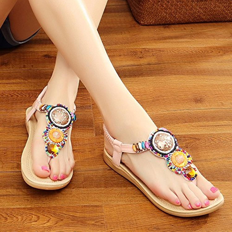 Cool antideslizamiento zapatillas arena gruesa Cool zapatillas sandalias de fondo blando, rosado, 38