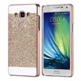#7: Mobiclonics Hard Glitter Back Cover For Samsung Galaxy On7 Pro(Gold)