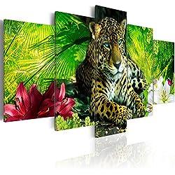 murando - Cuadro 200x100 cm - Animal - Impresion en calidad fotografica - Lienzo tejido no tejido - Jaguar Naturaleza g-C-0042-b-m