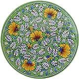 Om Craft Villa Blue Pottery Ceramic Decorative Wall Hanging Handmade Plate (25 cm x 25 cm x 4 cm)
