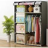 Armarios sencilla simple armario ropero dormitorio plegable marco de acero armario ropero armario de almacenamiento de montaje ( Color : 2 )
