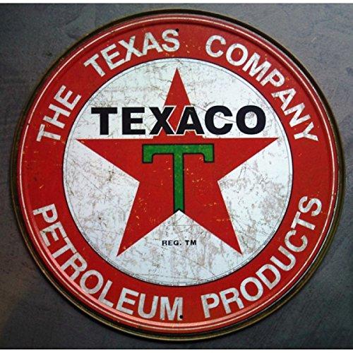 hotrodspirit-plaque-texaco-texas-company-ronde-aspect-vieillit-rouge