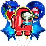 Decoracion de -Miotlsy 6pcs cumpleaños Accesorios para fiestas de cumpleaños para niños con globos para decoraciones Anime Th