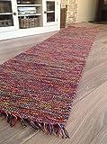 Second Nature Hand bevorstand Baumwolle Garn Indien Teppich in Multi Farben 70cm x 200cm