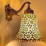 DEVBEADS White Glass Bell Wall Lamp GMF08G48C2
