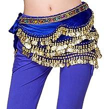 Dancina Cintura in Velluto Sciarpa per Danza del Ventre Orientale 310  Monete d Oro 29f11614c21