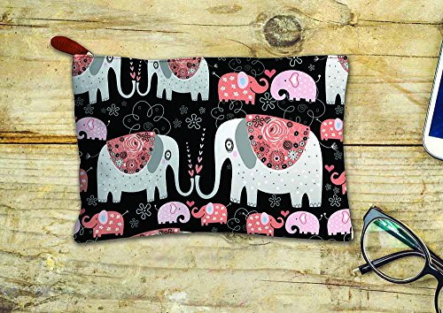 Printelligent Multipurpose Canvas Pouch  Suitable for Stationery, Make up,  Gadgets, Wires and Cables etc  for Office, Home, Travel, School Or College