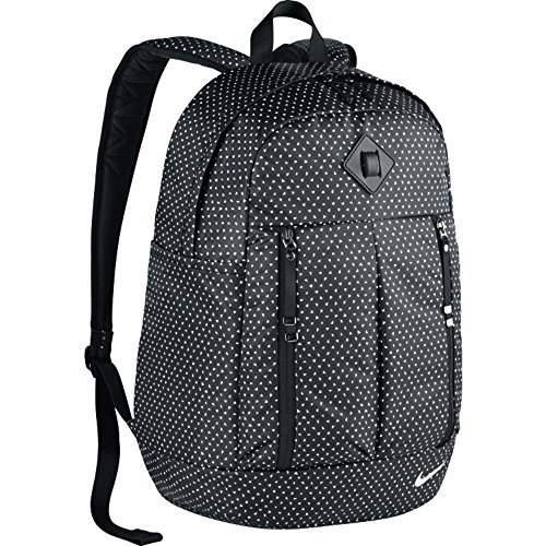 Nike Auralux Backpack - Print - Mochila para mujer, color negro / blanco, talla única