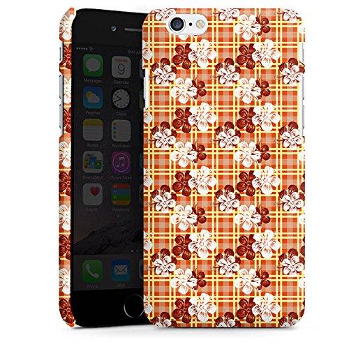 Apple iPhone X Silikon Hülle Case Schutzhülle Blumen Surfen Karomuster Hawaii Premium Case matt