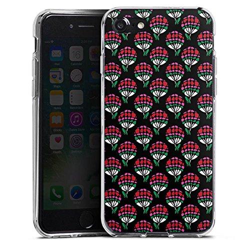 Apple iPhone X Silikon Hülle Case Schutzhülle Blumen Muster Dreiecke Silikon Case transparent