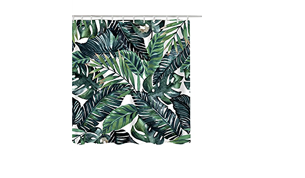 150 X180 H Cm Paysage Forestier Feuille Rouge Rideau De Douche D/écoration De Salle De Bain /Écran Tissu Imperm/éable Rideaux De Bain D/écor /À La Maison W