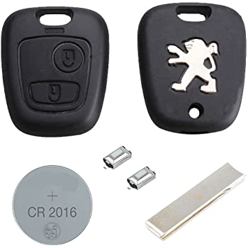 Peugeot Key Fob Remote Key Shell Case Keys incl  battery and