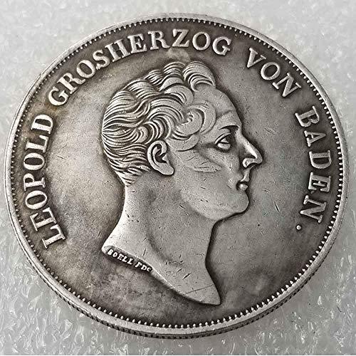 DDTing Antiker Deutscher Morgan Silber-Dollars - 1836 alte Münze zum Sammeln - Silber-Dollar - Silber-Dollar - Replik Silbermünze GoodService -