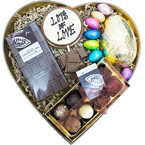 EASTER HEART CHOCOLATE HAMPER - Exclusive Easter Chocolate Hampers and Easter Chocolates by Eden4chocolates