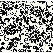 Dintex 71-321 - Vinilo autoadhesivo fantasía, 45 cm x 2 m, color blanco, negro