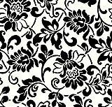 Pellicola adesiva - pellicola mobili - viticci nero - 45 x 200 cm - foglio decorativo