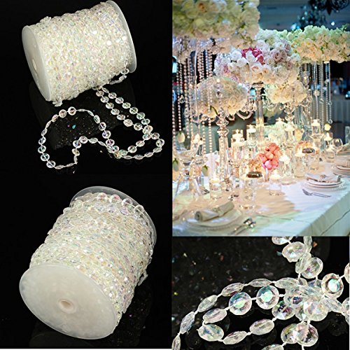 Perline Di Cristallo Acrilico Cangiante Matrimonio 30M Tenda Di Diamanti - Tenda Acrilica