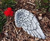 Grabschmuck Engel Flügel 28 cm breit, aus massiven Steinguss, frost- und wetterfest bis -30°C