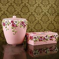 XAH@ Romantico Manor europeo moderno bagno kit resina in polvere lavaggio due pezzi Set