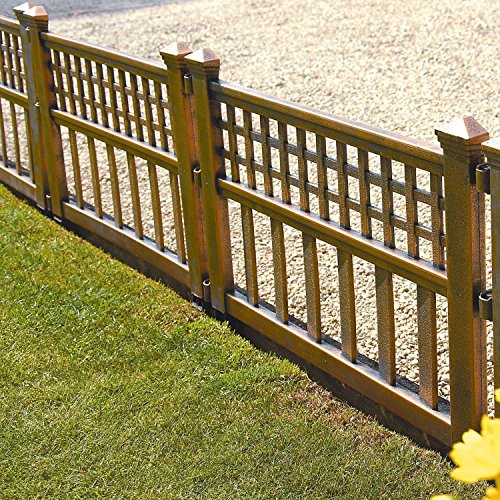 Parkland® Zaunelemente,Rasenkante, Kunststoff, bronzefarben