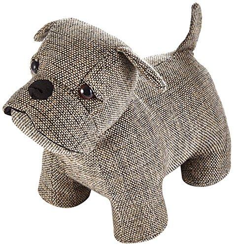 Heitmann Deco Türstopper Hund - Mops - braun - aus Stoff - mit schwerer Füllung - für innen -...