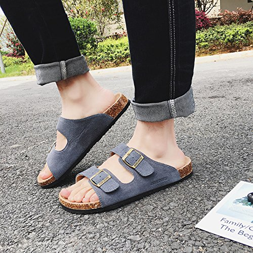 bb6d580ed3507 xing lin Leather Sandals Men'S Sandals Summer Non-Slip Flat And ...