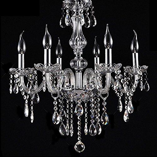 Lampadario in vetro cristallo - 6 punti luce - design elegante