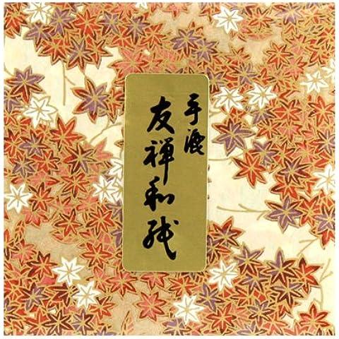 Carta per origami Yuzen Washi DW C-314(geschöpft a mano) 12cm x (Washi Chiyogami Carta)