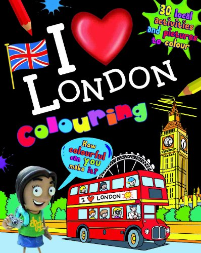 I Love London Colouring