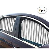 ZATOOTO Solskydd för sidofönster för bil (2 st), magnetisk bilgardin för att blockera UV-strålar, för privat användning.