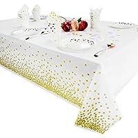 Nappes en plastique pour les tables de rectangle, couvertures de table jetables de nappes de table de fête pour l…