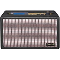 Trevi Seventy Six Anniversary 70's Style Retro FM Radio Stereo Amplifier / MP3 Player with Bluetooth, Programmable Alarm Clock, USB and AUX-IN (Black)