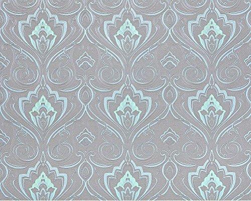 Barock Tapete XXL Vliestapete EDEM 993-37 Elegantes Damastmuster hochwertige Luxus Tapete blau...