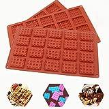 Molde Silicona 3pcs, moldes Gofres reposteria, Moldes Waffle ,20 cavidades antiadherentes de silicona bandeja para Chocolate,