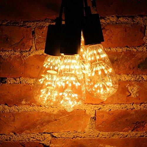 4 Packung Vintage Beleuchtung, VSOAIR LED-Birnen mit 3W ST64 Weinlese-Edison-Feuerwerk-dimmable Birnen-Beleuchtung-warmem Weiß 2200K - 2