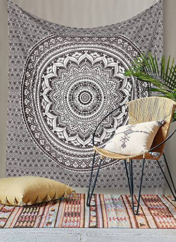 rawyalcrafts-gris-et-noir-ombre-tapisserie-hippie-boheme-motif-gypsy-pensee-magique-indien-tapisseri